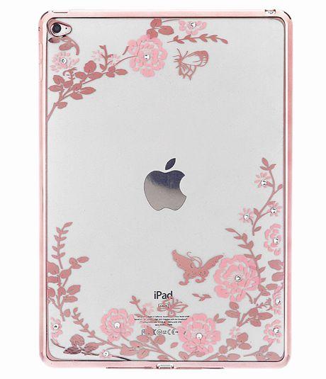 iPad Mini 1/2/3 TPU Bling Diamond Flower Protective Case Cover for iPad Mini Girls Lady Women Retina Soft Phone Case Gift