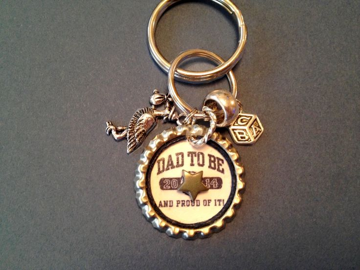Dad To Be Keychain - pinned by pin4etsy.com