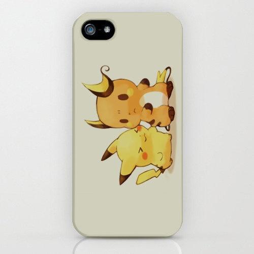 Pokemon - Picachu and Raichu, Iphone 4/4s/5 case, Hard Plastic, FREE Shipping Worldwide