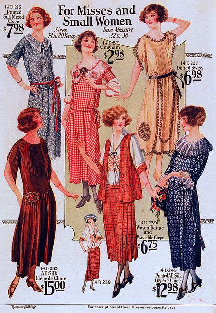 Vintage Fashion Misses and Small Womens' Fashions of 1923