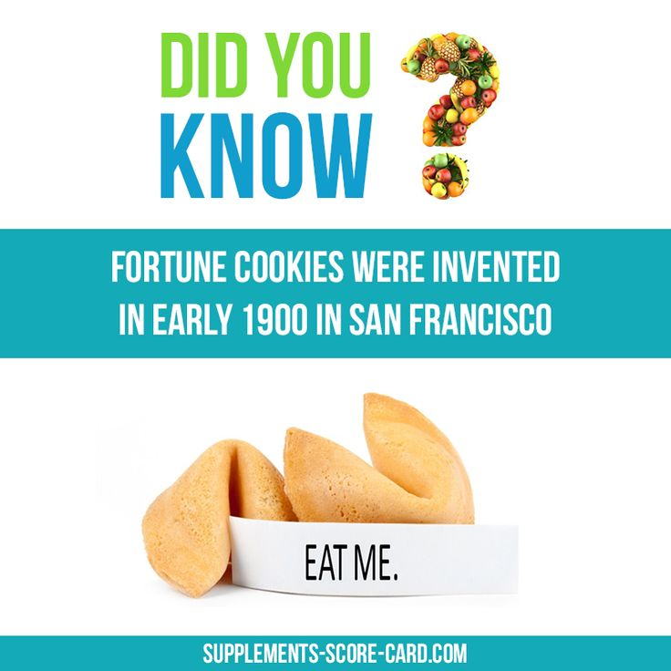 Fortune Cookies were invented in San Francisco Fortune cookie wew invented in early 1900 in San Francisco    Things you dont know about food  Supplements ScoreCard