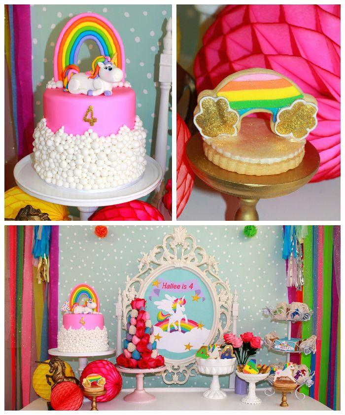 Rainbow Unicorn Themed Birthday Party Via Kara's Party
