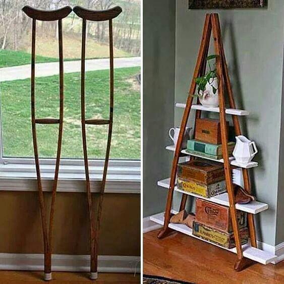 Crutches shelf