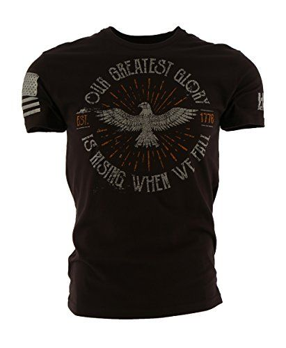 """Grunt Style HYDRA Tactical Greatest Glory Men's T-Shirt, Color Dark Chocolate, Size L:   All Grunt Style items are covered by the """"Beer Guarantee"""". What is the Beer Guarantee? It's their Too Easy return policy. Your Grunt Style shirts are covered for life. Including tears, holes, loose threads, beer stains, and even blood stains from defending the American Flag from terrorists. As authorized retailers, we will honor Grunt Style's Beer Guarantee."""