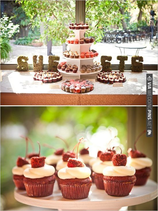 cupcake table by Kates Frosting | CHECK OUT MORE IDEAS AT WEDDINGPINS.NET | #weddingcakes