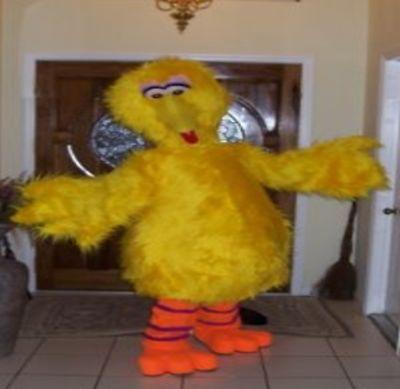 BIG BIRD Sesame Street Yellow Cartoon Mascot Costume Halloween Adult Cosplay