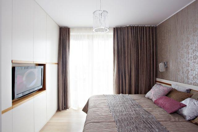 Sypialnia / Zabudowa ściany, mdf lakierowany.