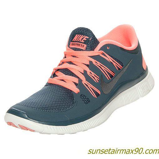 Nike Free 50 Womens Dark Armory Blue Atomic Pink Summit 580591 446