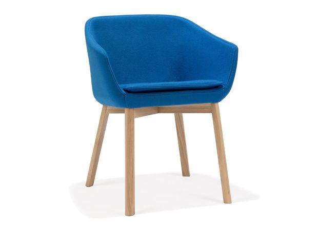 Monica Förster Design Studio, DUNE Chair, Modus, 2009 #scandinaviandesign #product #design #object #furniture #chair #lightstructure #skilegs #timberlegs #swivelbase #fabric #leather #home #interior