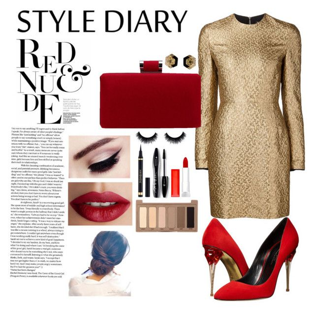 Untitled #25 by lauralionels on Polyvore featuring polyvore fashion style Creatures Of The Wind Oscar de la Renta TheBalm Urban Decay Lancôme Maybelline Yves Saint Laurent clothing