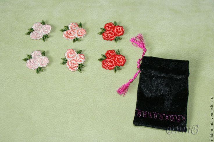 Купить вышивка набор 6 шт. роза розы розочки для скрапа для одежды - вышивка шелком