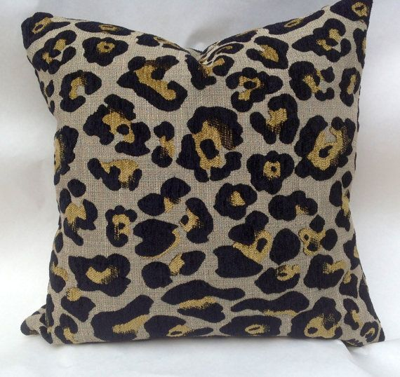 Leopard chenille decorative pillow slip cover by MyPillowShoppe, $40.00