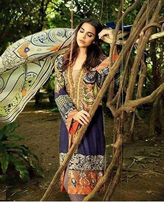Picture of Alluring Prussian Blue Cotton Salwar Kameez