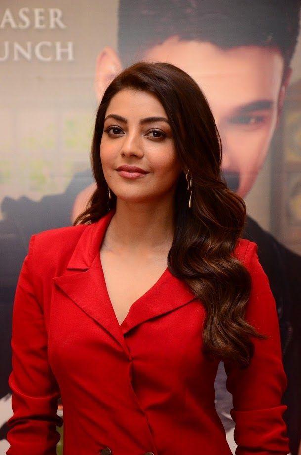 Kajal Aggarwal Stills At Kavacham Movie Teaser Launch Actresses Movie Teaser Indian Actresses