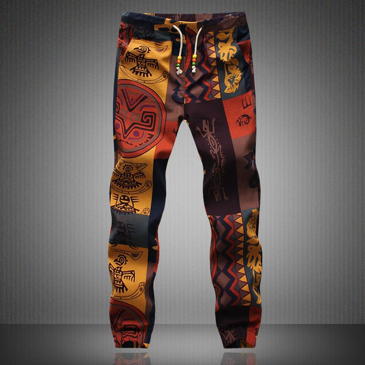 Mens Joggers 2016 Marca Masculinos Pantalones de Lino Hombres Pantalones Casuales Pantalones de Chándal Basculador