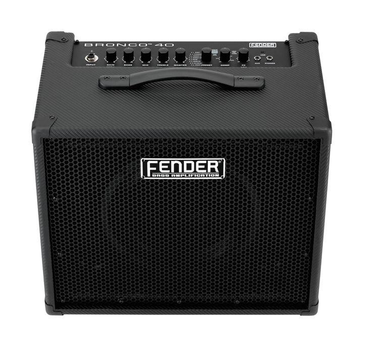 Fender Bronco 40 40W 1x10 Bass Combo Amp, Black