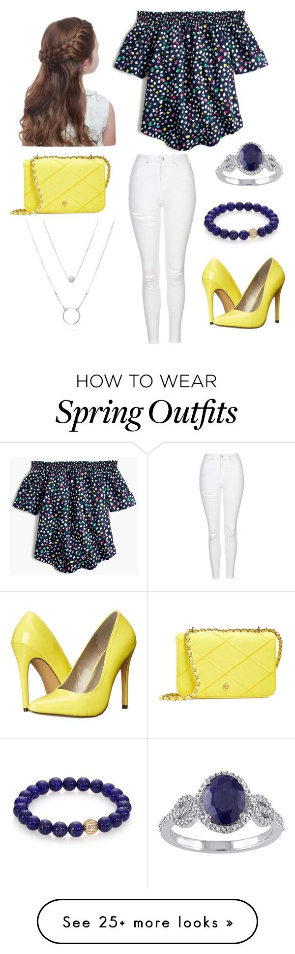 """""""Cute spring/fall outfit"""" by natileebrendes on Polyvore featuring J.Crew, Topshop, Michael Antonio, Tory Burch and Sydney Evan"""
