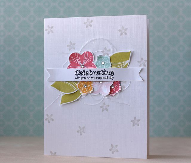 Celebrating With You Card by Laura Bassen for Papertrey Ink (December 2013)