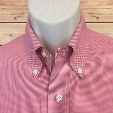 ⭐BROOKS BROTHERS Original Polo Dress Shirt 15 32-33 NON IRON Red Plaid Check