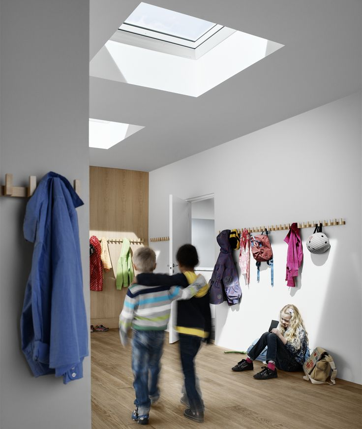 Good architecture combines function and purpose seamlessly with design. Studies show that children's learning ability rises by up to 15% if they are in a good #indoorclimate. Who doesn't appreciate a little sunshine during a quick break?