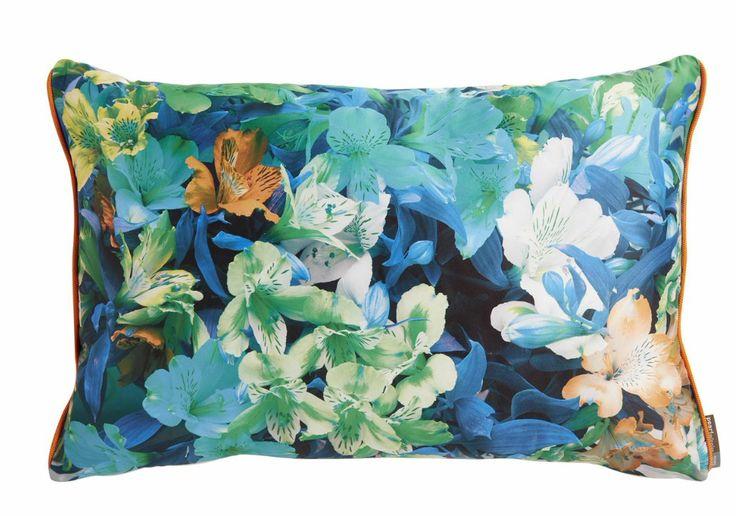 coussin fleurs, orchidée, couleurs, flowers, home spirit, déco