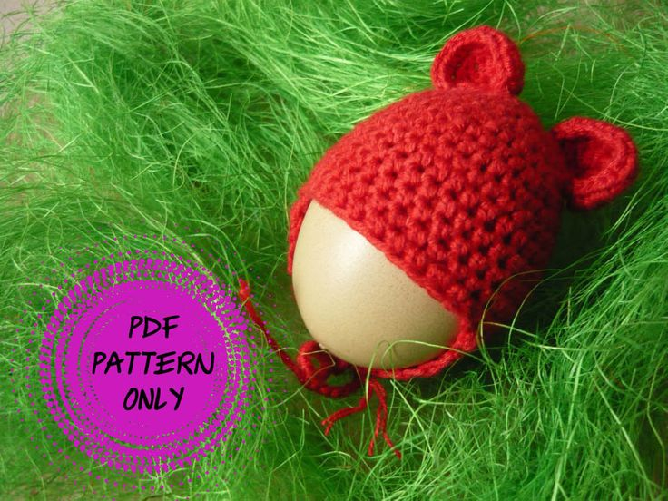 Pattern Eggs warmers - cap with small ears (download pdf), kawaii egg cosies, table decorations by MariAnnieArt on Etsy