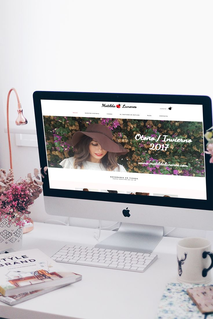 Diseño tienda online MATILDA LUNARES | Lovestyle Comunicacion