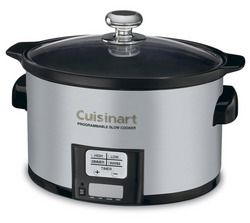 PSC-350 - 3.5 Quart Programmable Slow Cooker - Perfect size for a couple or small families.  When it has reached end of cycle, switches automatically to warm for 8 hours in care you have to leave it.
