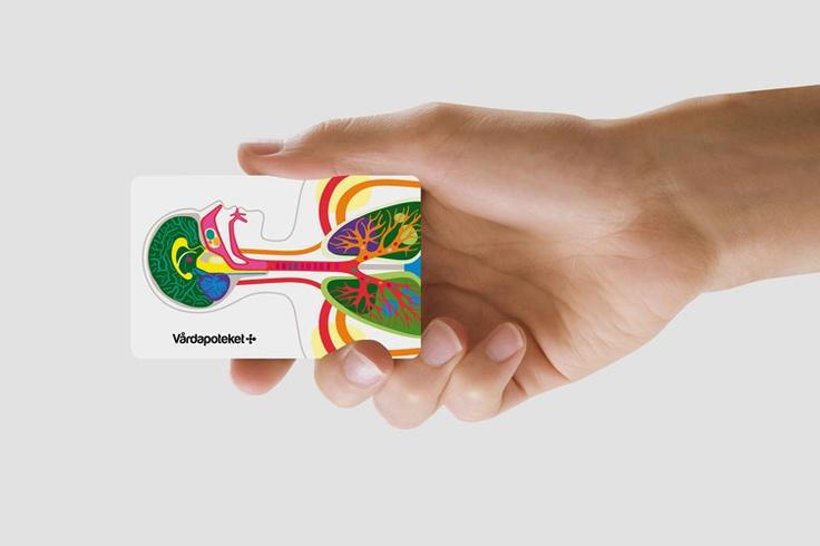 Beautiful, accessible brand identity for Swedish pharmacy chain Vårdapoteket.