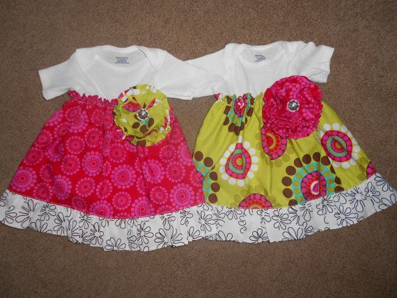 Onsie Dress Set 03 Months OR 39 Months by Lissiesmomma on Etsy, $18.00 - or i could make with a regular shirt for my kids