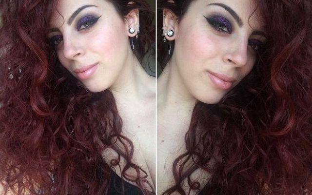 Purple make up e review prodotti Elf cosmetics Pronta per la fase trucco inizio a realizzare un semplice smokey eyes quando improvvisamente dei fashionably purple make-up elf