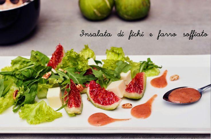 #Insalata di #fichi e farro soffiato #summer #salade #figs