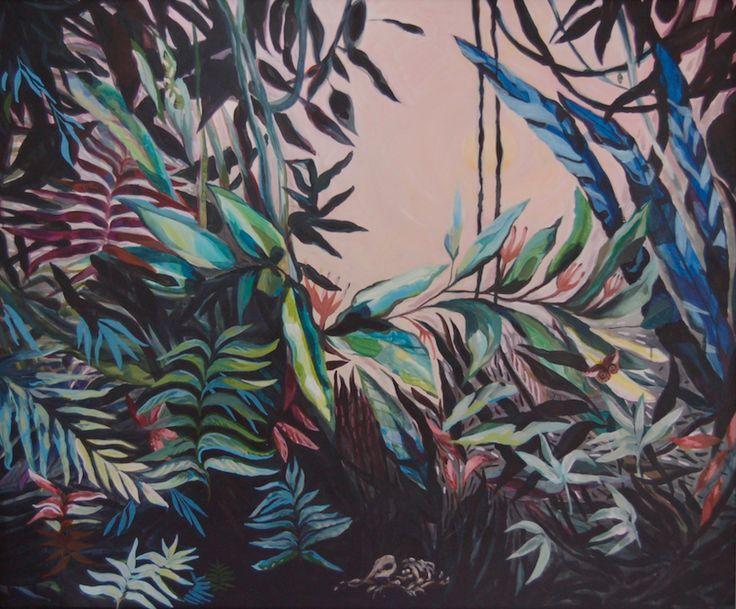 Through the shadows, acrylics on canvas, 100x120cm by Katharina Zahl Fagervik