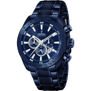 Festina F16887-1 Mens Prestige Blue Steel Chronograph Watch