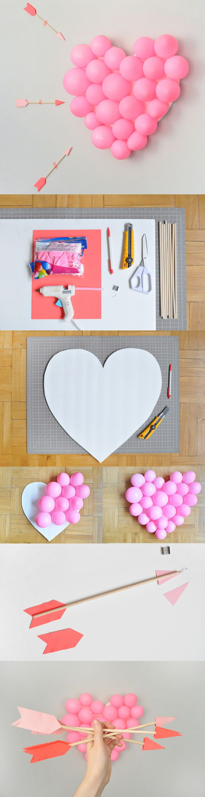 Play Cupid with this Valentine's Day DIY Balloon Pop.