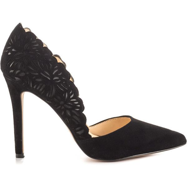 Jessica Simpson Women's Cassel - Black Lux Kid Suede ($100) ❤ liked on Polyvore featuring shoes, pumps, black, black high heel shoes, black court shoes, black high heel pumps, pointy-toe pumps and suede shoes