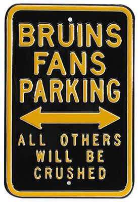 Authentic Street Signs Boston Bruins Crushed Street Sign - Shop.Canada.NHL.com