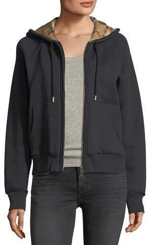 1ae9880cd Check-Lined Hooded Jacket Black | Products | Hooded jacket, Jackets ...