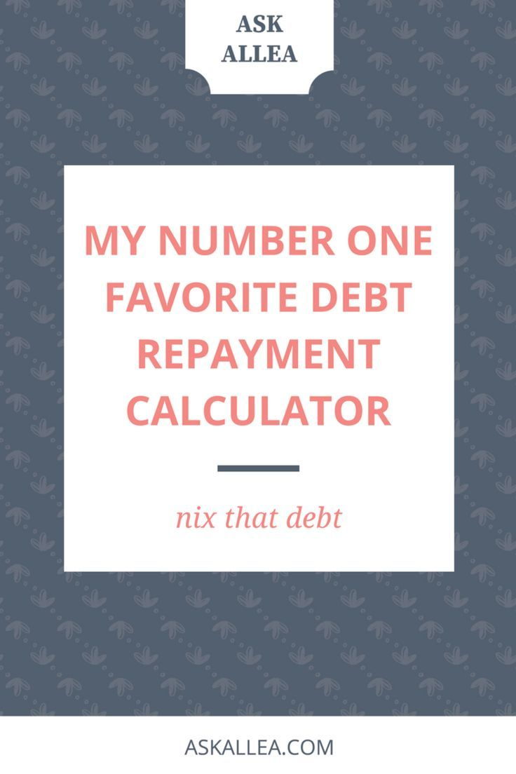 My Number One Favorite Debt Repayment Calculator // Ask Allea