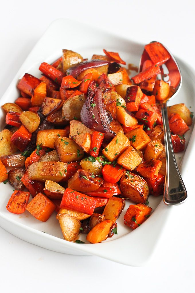 Tart Cherry Glazed Roasted Root Vegetables…Amazing flavors in this side dish! You won't be able to stop eating them. 202 calories and 6 Weight Watcher SmartPoints