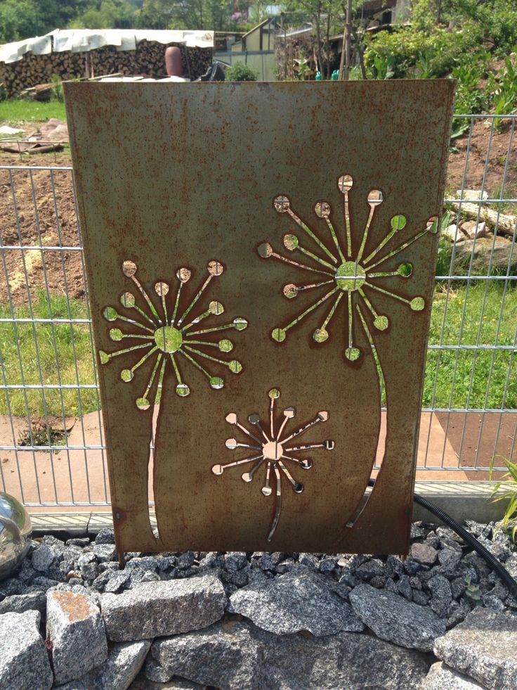 Rost wand rostiges pinterest w nde for Gartendeko aus metall rostig