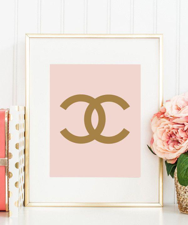 COCO CHANEL LOGO (blush & gold)