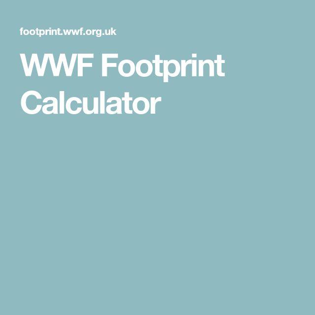 WWF Footprint Calculator