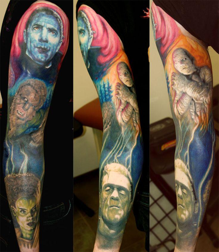 Horror Movie Tattoos Tattoos: 45 Best Classic Horror Tattoos Images On Pinterest
