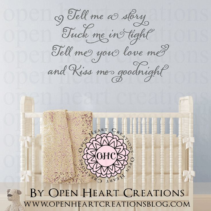 Read Me a Story Baby Nursery Saying Vinyl Wall Decal - Nursery Poem Quote 22H x 36W BA0348 by openheartcreations on Etsy