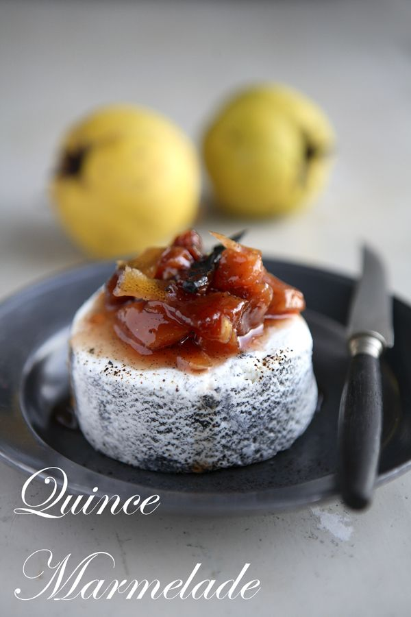Quince Marmelade with ginger, vanilla, with a citrus and licorice twist