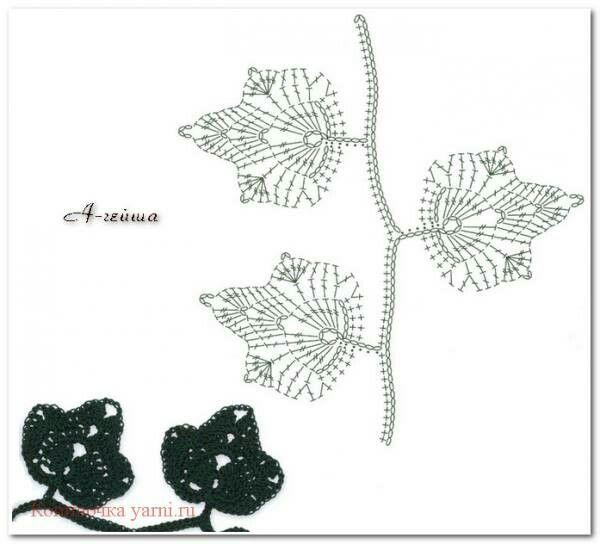245 Best Fiori Foglie Images On Pinterest Crochet Flowers