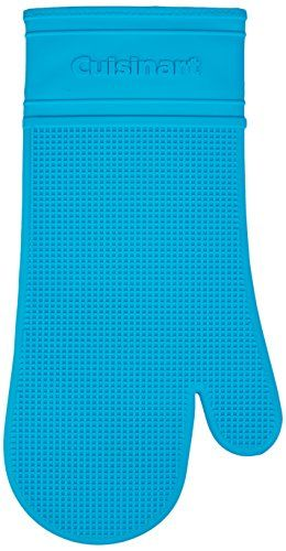 Cuisinart Silicone Heat Proof Oven Mitt With Quilted Cotton Lining Aqua Cuisinart Oven Mitts Cookware Accessories