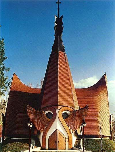 Lutheran Church door  (Siofok/ Hungary)