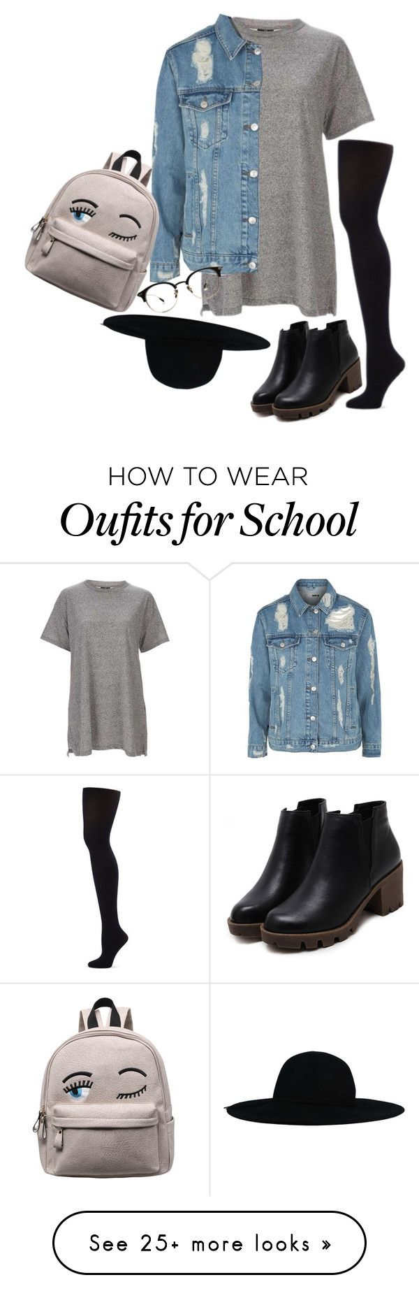"""""""School out"""" by echarra on Polyvore featuring Topshop and Capezio Dance"""